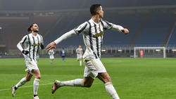 Cristiano Ronaldo erzielte beide Treffer für Juventus