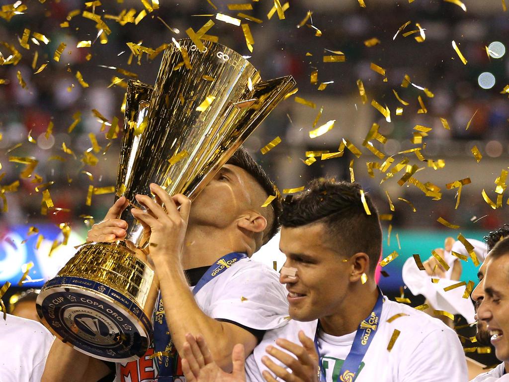 Mexiko gewinnt nach dem 3:1-Finalsieg über Jamaika den Gold Cup 2015. (27.07.2015)
