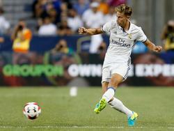 Marcos Llorente con la camiseta del Real Madrid esta pretemporada. (Foto: Getty)