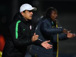 Nigerias Trainer Gernot Rohr ist sich sicher, dass sein Team Island besiegen wird