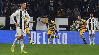 Trotz zweier Tore von Cristiano Ronaldo gab es gegen Parma nur ein Remis