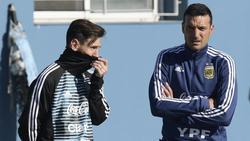 Lionel Messi (l.) läuft wieder für Argentinien auf