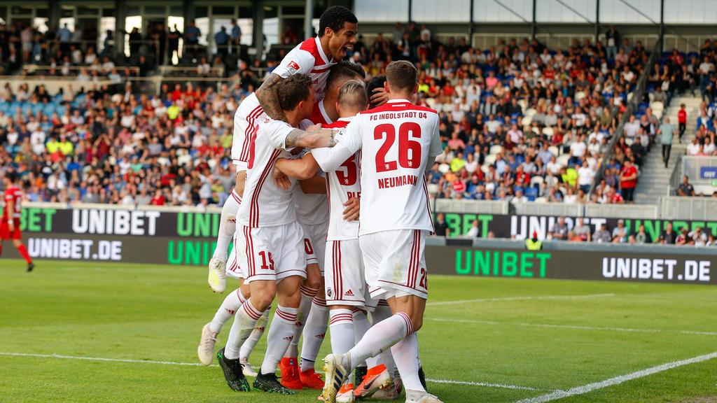 Der FC Ingolstadt gewann das Hinspiel in in Wiesbaden mit 2:1