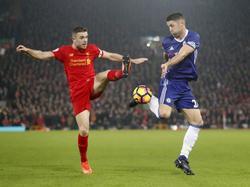 Jordan Henderson en un duelo contra el Chelsea. (Foto: Getty)