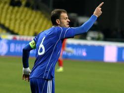 Andorras Kapitän Ildefons Lima in Aktion