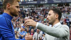 Benedikt Höwedes (li.) trifft wieder auf Schalke-Coach Tedesco
