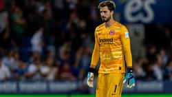 Kevin Trapp hofft auf eine baldige Rückkehr ins Tor von Eintracht Frankfurt