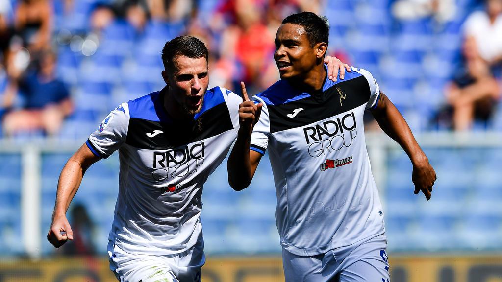 Muriel celebra su tercer gol esta temporada con el Atalanta.