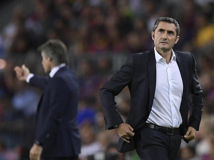 Valverde en una imagen de esta temporada en el Camp Nou.