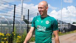 Arjen Robben bei seiner Ankündigung zur Rückkehr auf den Platz beim FC Groningen