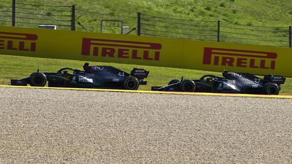 Auf gleichen Reifen hatte Valtteri Bottas hinter Lewis Hamilton keine Chance mehr