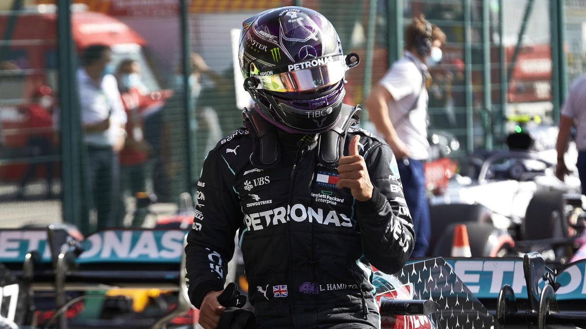 Lewis Hamilton fuhr seine schnellste Zeit tatsächlich auf Medium-Reifen