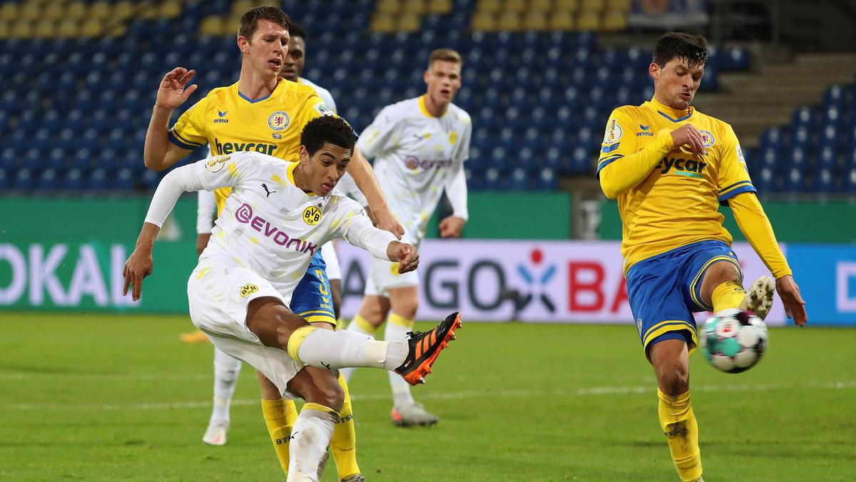 Der BVB mühte sich bei Eintracht Braunschweig zum Sieg