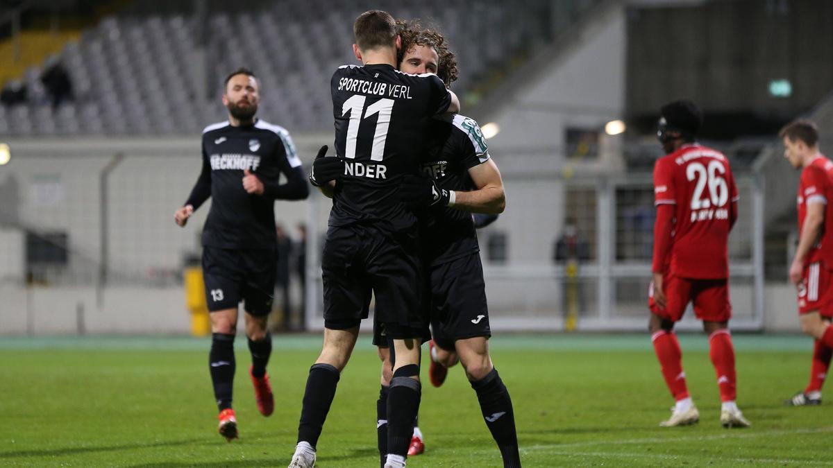 Der SC Verl bezwang den FC Bayern II