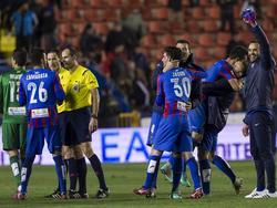 El Levante celebra la victoria in extremis en su feudo. (Foto: Imago)