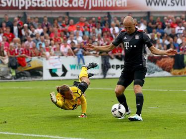Arjen Robben traf und musste wenig später verletzt raus