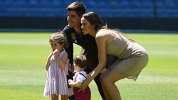 Courtois mit Familie