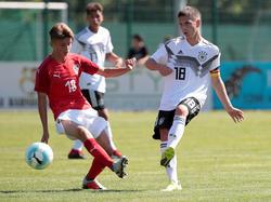 Österreichs U16-Nationalteam feierte einen Prestigeerfolg über Deutschland