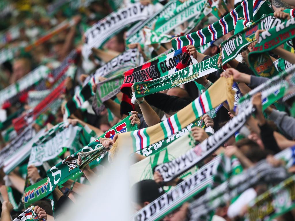Die Rapid-Fans pflegen eine enge Freundschaft zu den Nürnberg-Anhängern