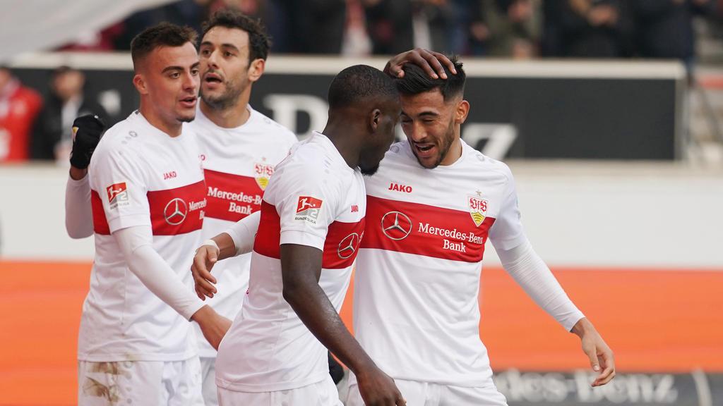 Nicolás González (r.) könnte den VfB Stuttgart im Winter verlassen