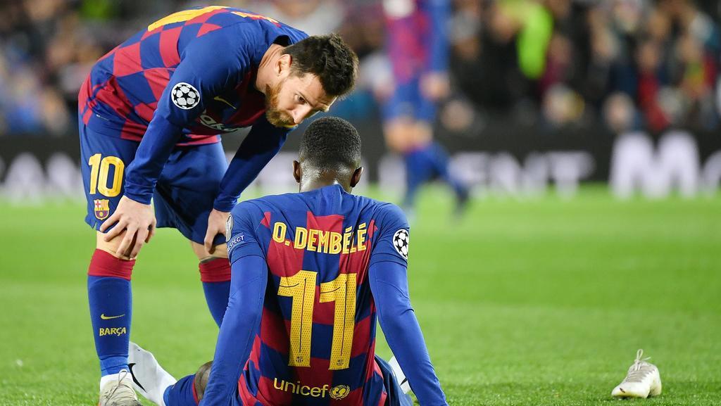 Beim FC Barcelona im Blickpunkt: Lionel Messi (l.) und Ousmane Dembélé