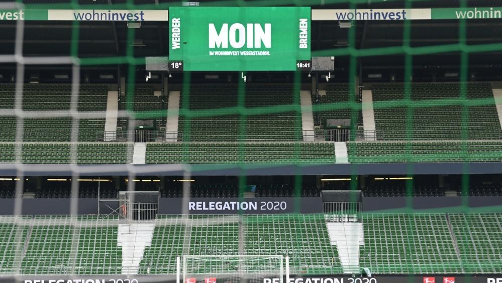 Zuletzt blieben die Ränge des Weserstadions leer