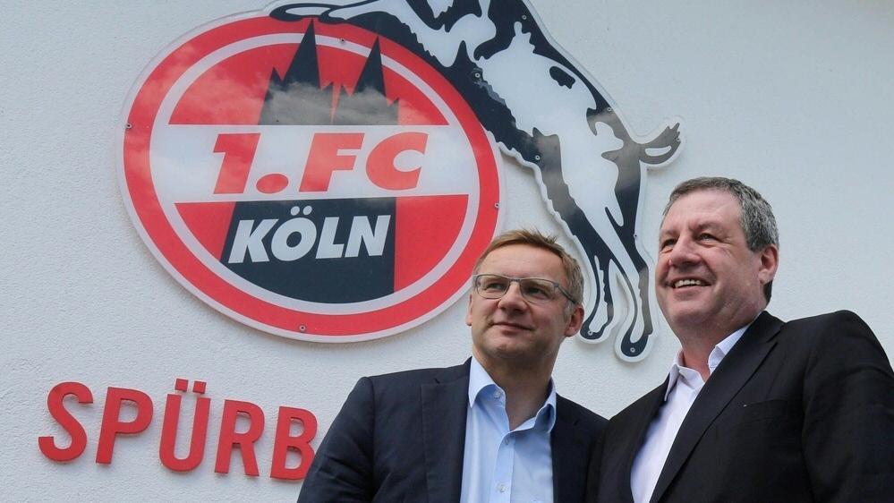 Eckhard Sauren (r.) ist über die Kölner Nachhaltigkeitsarbeit erfreut