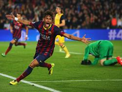 Neymar celebra un tanto con el FC Barcelona. (Foto: Getty)