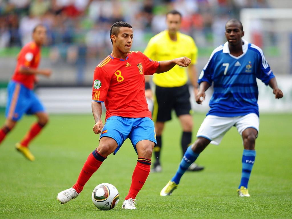 Thiago perdió la final del Europeo Sub-19 ante Francia en 2010. (Foto: Imago)