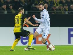 Bryan Cristante (r.) spielte in der Europa League gegen Borussia Dortmund