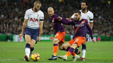 Manchester City gewann das Premier-League-Topspiel gegen Tottenham