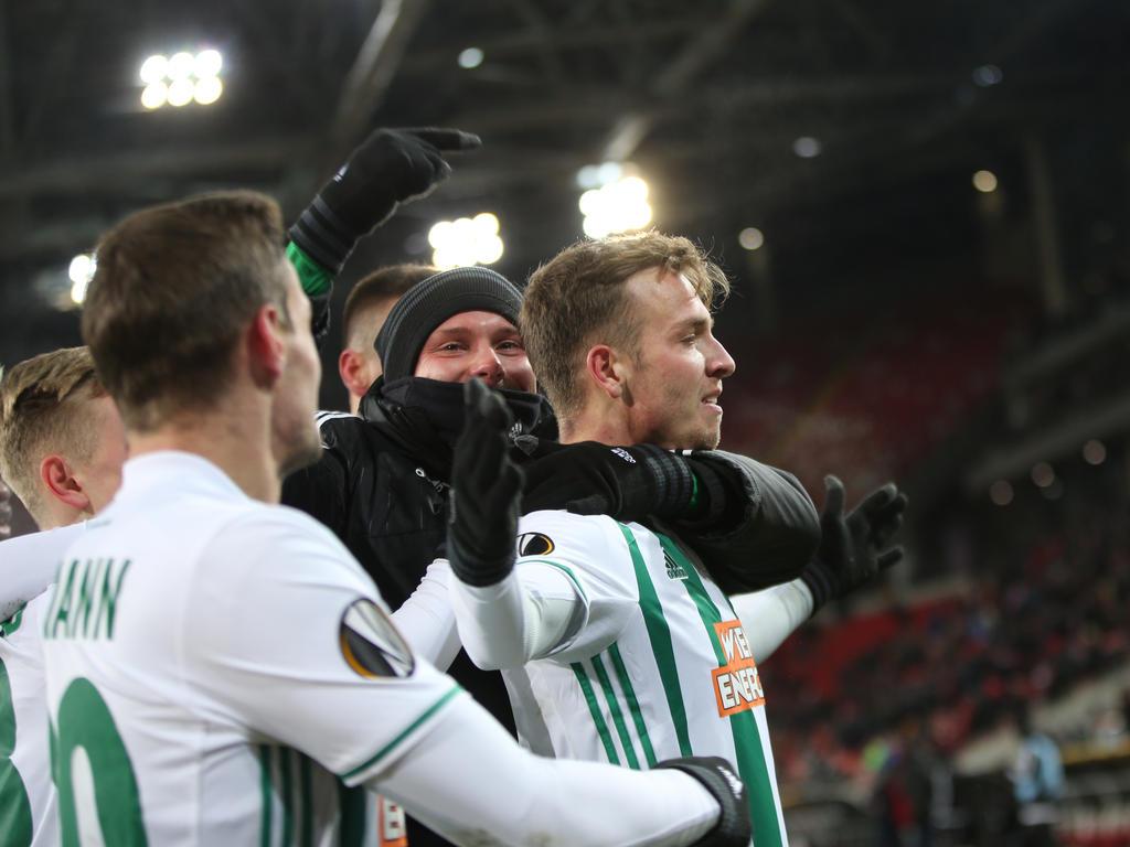 Philipp Schobesberger (r.) erzielte Rapids späten Siegestreffer in Moskau