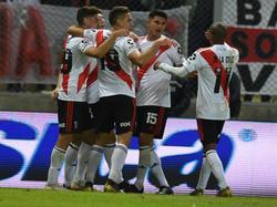 River Plate celebra su pase a la siguiente ronda.