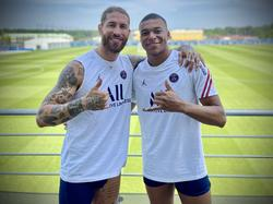 Ramos se inmortalizó con Mbappé en su primer entrenamiento.