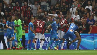 Das Derby zwischen Nizza und Marseille sorgte für reichlich Negativ-Schlagzeilen