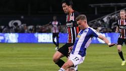 Zog sich im Testspiel gegen Hertha BSC einen Bänderriss zu: Daichi Kamada