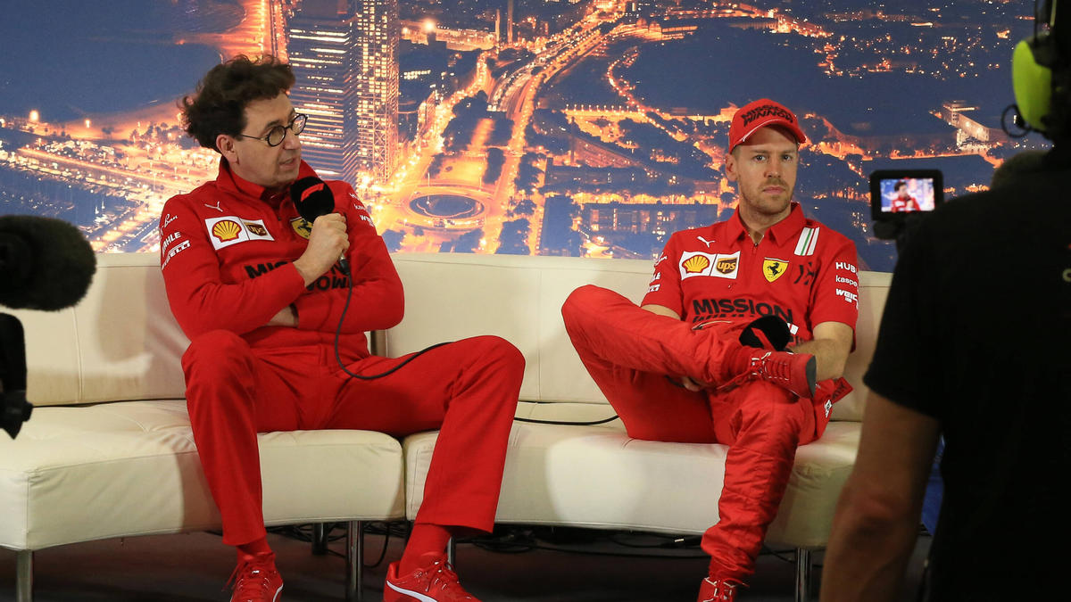 Ferrari-Fahrer Sebastian Vettel: Teamchef Binotto lobt ihn für seine Aufrichtigkeit