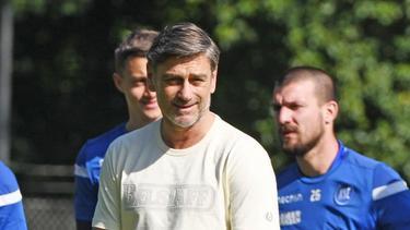 Oliver Kreuzer, Sportdirektor des Karlsruher SC, im Mai bei einem Mannschaftstraining
