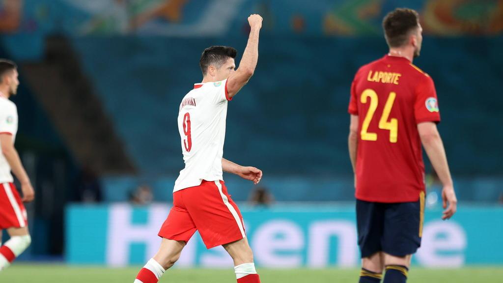 Lewandowski traf gegen Spanien