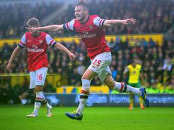 Jenkinson celebra un gol con la camiseta del Arsenal el año pasado. (Foto: Getty)