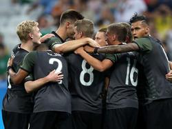 """""""Wir sind ein Team"""": Das DFB-Teams will mit seinen Betreuern zusammen bleiben."""