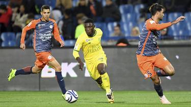Majeed Waris fue demasiado rápido para la defensa del Montpellier. (Foto: Imago)