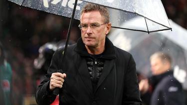 Bedient: Leipzig-Coach Ralf Rangnick in Freiburg