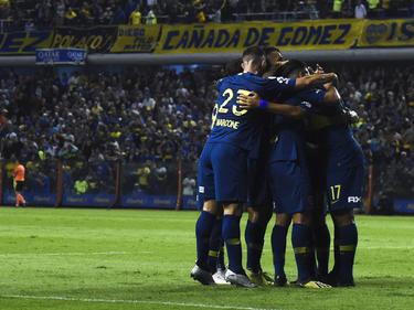Boca celebra su triunfo ante su hinchada en La Bombonera. (Foto: Getty)