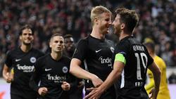 Eintracht Frankfurt setzte sich gegen Standard Lüttich durch
