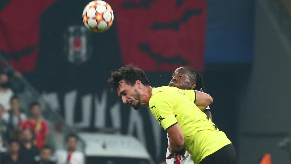 BVB-Verteidiger Mats Hummels lieferte sich ein heißes Duell mit dem ehemaligen Dortmunder Michy Batshuayi