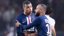 Auch die PSG-Superstars Kylian Mbappé (l.) und Neymar müssen pausieren
