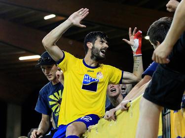 Segovia nach seinem Europacup-Doppelpack für den SKN gegen Botev Plovdiv