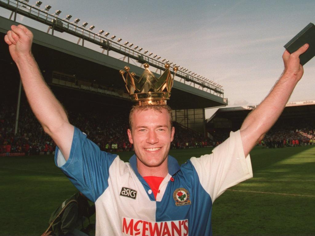 Alan Shearer marcó 34 tantos en la temporada 1994-1995 con el Blackburn. (Foto: Getty)