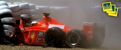 Diashow: Unsere Silverstone-Vorschau! Mit Schumis Horror-Crash und Hamilton-Dominanz